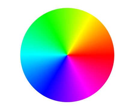 rgb: Illustration of a RGB color circle