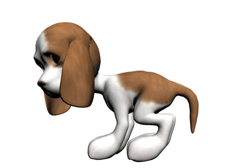 whelps: Dog, rendered with Bryce 6