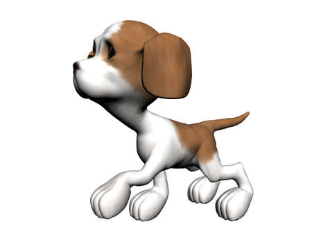 Dog, rendered with Bryce 6