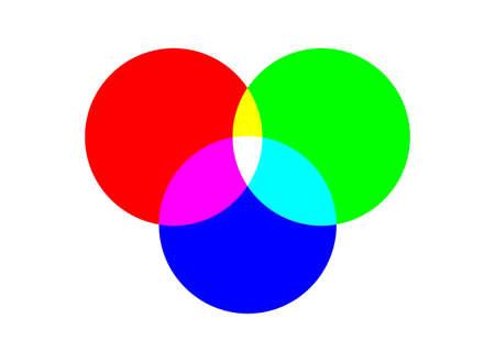 rgb: RGB color chart Stock Photo