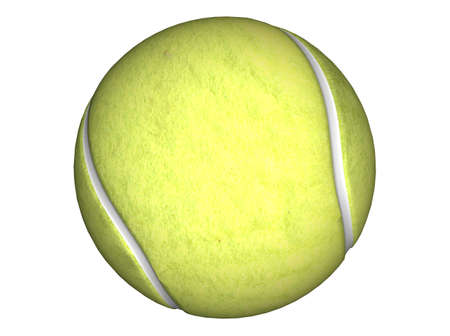 raytracing: 3D Illustration of a tennis ball Stock Photo