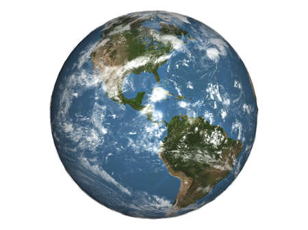 southamerica: 3D illustration of the earth Stock Photo