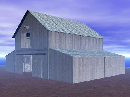 Illustration of a barnyard