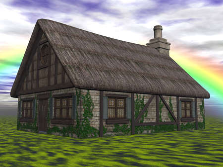 3D Illustration of a cottage