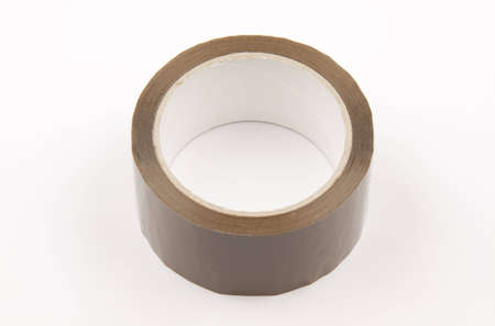 Roll of adhesive tape, isolated on white background