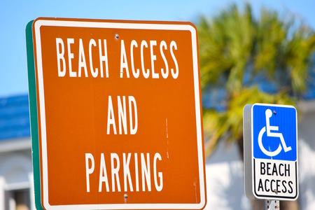 beach access: Beach Access and Handicapped Parking Signs
