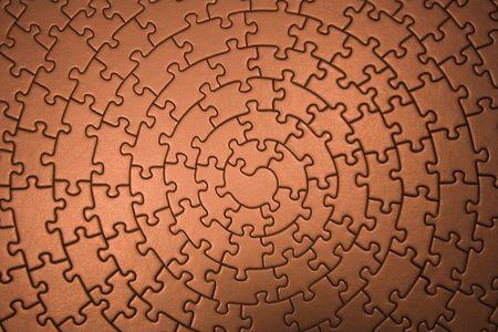 espiral: completar rompecabezas gran angular en cobre - piezas de montaje en forma de una espiral --