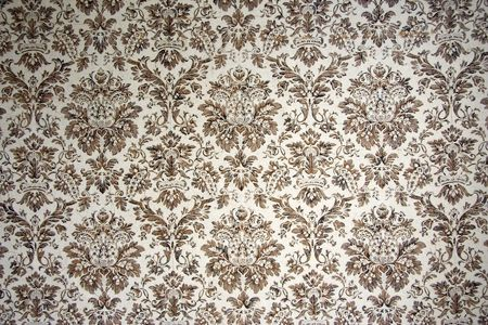 vintage wallpaper - with brown ornaments -  Stock Photo