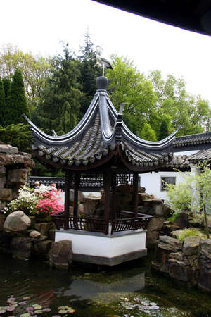 pavillion: Chinese Pavillion Stock Photo