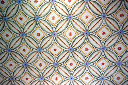 fresco: vintage interior decoration - nice background Stock Photo
