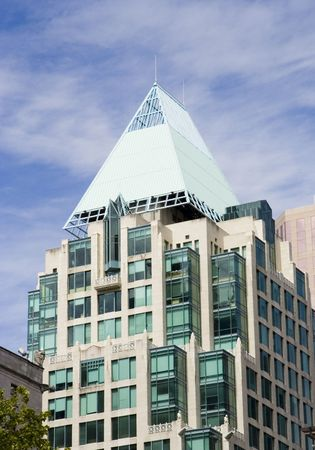 highriser: hotel vancouver - downtown against a blue sky Stock Photo