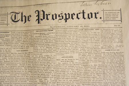 old newspaper: antique daily newspaper  -  from january, 13, 1900