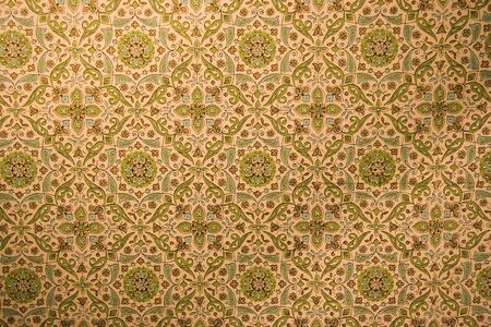 trim wall: vintage wallpaper with rosettes - washed-out colors