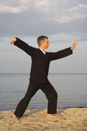 tai chi - posture single whip - art of self-defense photo