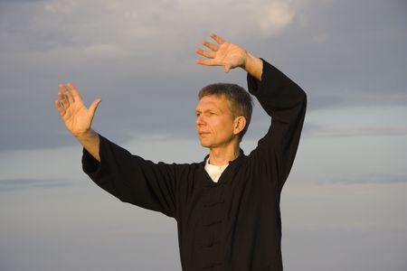 tai chi - art of self-defense Stock Photo