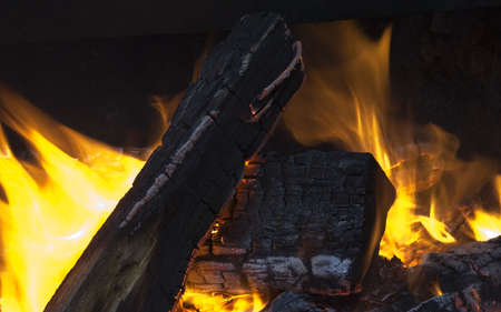campfire - logs going up in flames