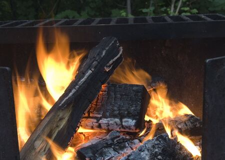 campfire - logs going up in flames -