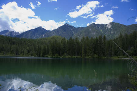 tarn: Panorama of the Whiteswan Lake - Located in the Kootenay Range of the Rocky Mountains, BC, Canada