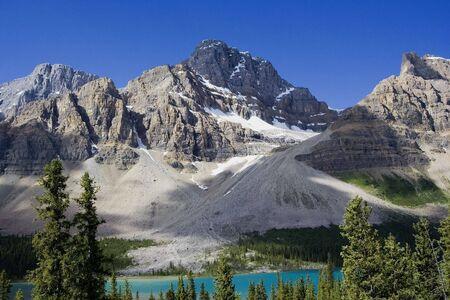 rockies: crowfoot glacier - in the rockies, banff national park, canada -