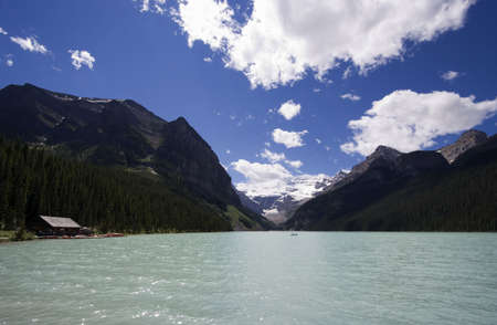 louise: lake louise - banff national park, canada  Stock Photo