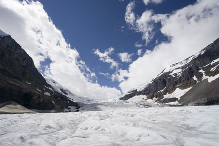 icefield: columbia icefield - athabasca glacier, jasper national park, canada -