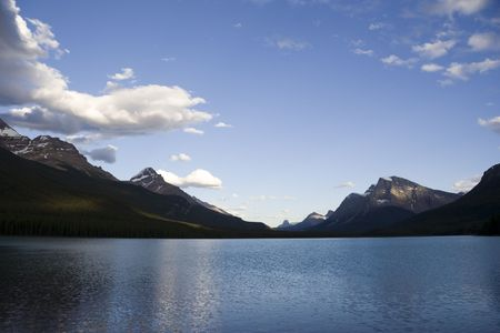 waterfowl lake in the canadian rockies - banff national park, canada - Stock Photo - 1858344