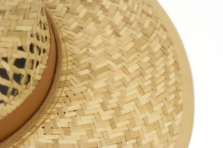sunburned: straw hat - summer equipment -  Stock Photo
