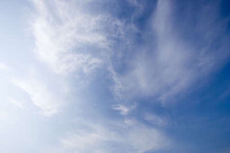troposphere: summer sky - with cirrus clouds -