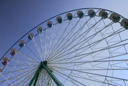 acrophobia: ferris wheel - amusement park in oberhausen, germany -  Stock Photo