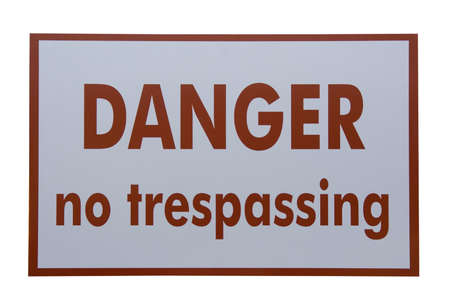 prohibido el paso: prohibido el paso firme - en la carretera Foto de archivo