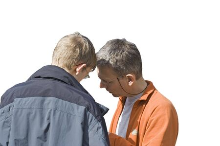 boyhood: senior and junior - teamworking