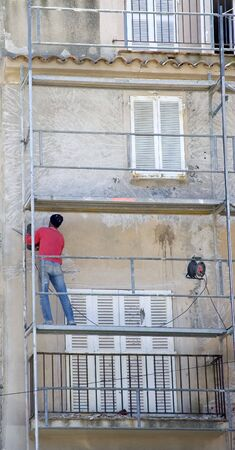 the unskilled worker: a great deal of work - shadow economy in saint-tropez, french riviera, france Stock Photo