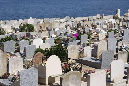 graveyard on the ocean - saint-tropez, french riviera, mediterranean sea  Stock Photo