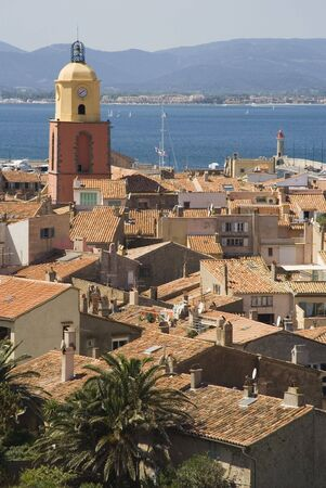 panorama of saint-tropez - in the past a smalll fishing village, but today a meeting place of celebrities on the french riviera, mediterranean sea photo