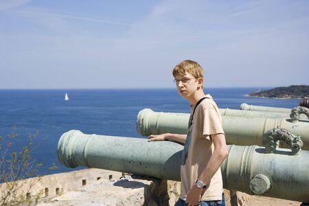 conscription: teen as a gunner or as cannon fodder - citadel of saint-tropez, french riviera, mediterranean sea