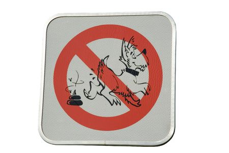prohibition sign for dog droppings - clean up your dog�s droppings Stock Photo - 1885246