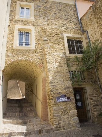 southern europe: police station in france - in gassin, village on the french riviera  Stock Photo