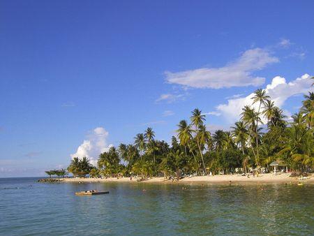 tropical beach and sky