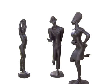 vodoo: Bronze sculptures Stock Photo