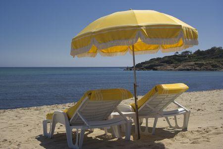 summer on the beach - saint-tropez, french riviera Stock Photo - 2443225