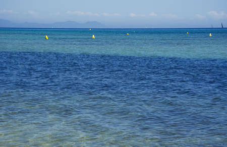 aquamarin: mediterranean sea - summer background - adobe RGB Stock Photo
