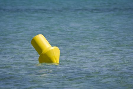 aquamarin: buoy in the mediterranean sea -  parking place for luxury yachts Stock Photo
