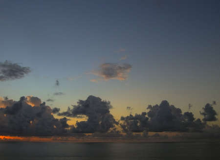 indies: sunset over the caribbean sea - tobago, west indies