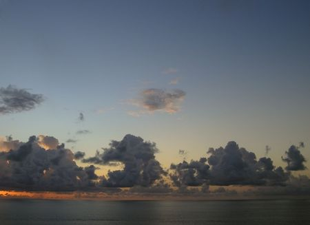 sunup: sunset over the caribbean sea - tobago, west indies