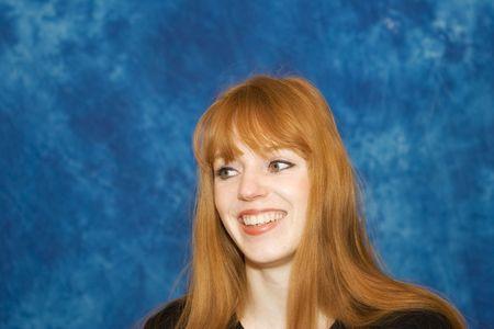 cute redhead - smiling - adobe RGB Stock Photo - 3061951