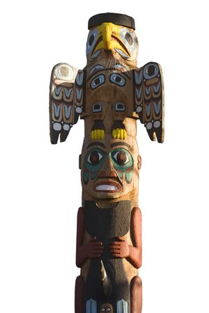 the totem pole: totem pole - north american tribal culture