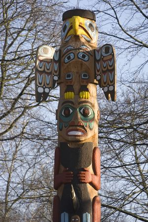 totem pole - north american tribal culture photo
