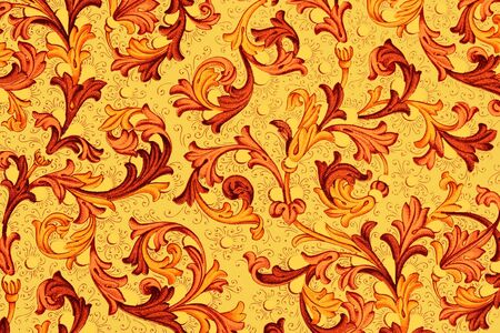 18th century style: antique paper with floral pattern - 18th century, used for scrapbooking - adobe RGB