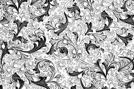 antiguo papel con patrón floral - siglo 18, utilizados para álbum de recortes