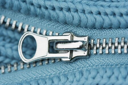 Close-up of an Open Zipper - part of a sweater